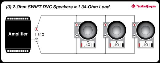3_2ohmDVC_134ohm_SWIFT  Woofer Ohm Wiring Diagrams on crutchfield amp, 4x12 speaker cabinet, mono amp 2,